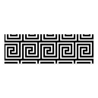 Black and White Greek Key Pattern Business Card