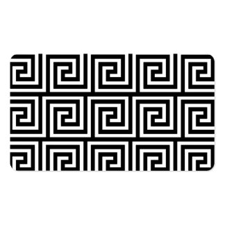 Black and White Greek Key Pattern Business Cards