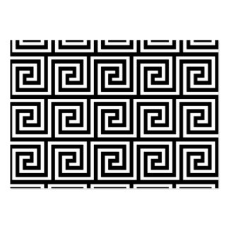 Black and White Greek Key Pattern Business Card Template