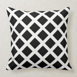 Black And White Grid Optical Illusion Pattern Cushion