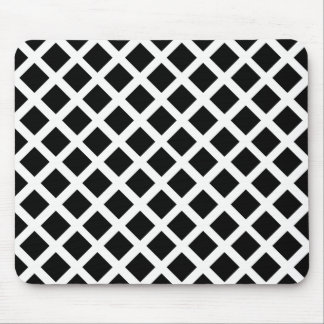 Black And White Grid Optical Illusion Pattern Mouse Pad