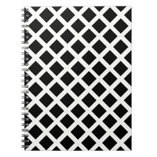 Black And White Grid Optical Illusion Pattern Notebook