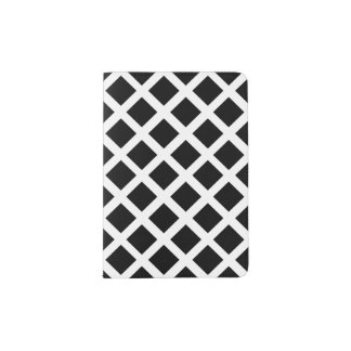 Black And White Grid Optical Illusion Pattern Passport Holder