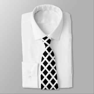 Black And White Grid Optical Illusion Pattern Tie