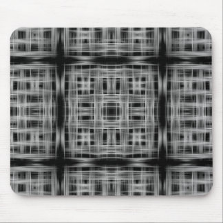 Black and white grid pattern mouse pad