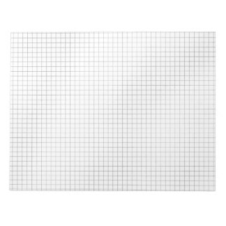 Black and White Grid Pattern on Paper Notepad