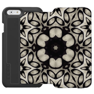 Black and White Grunge Abstract Incipio Watson™ iPhone 6 Wallet Case