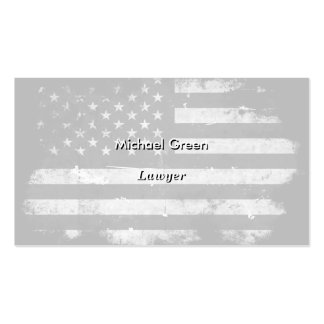 Black and White Grunge American Flag Business Card Templates