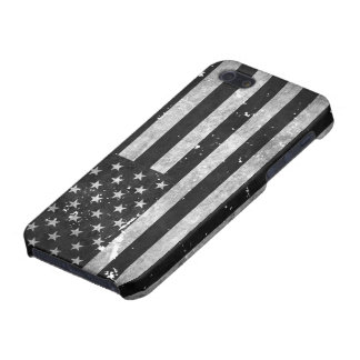 Black and White Grunge American Flag Case For The iPhone 5