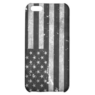 Black and White Grunge American Flag Cover For iPhone 5C