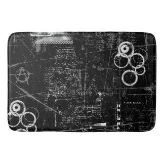 Black and White Grunge Large Bath Mat