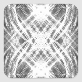 Black and white grunge punk square sticker