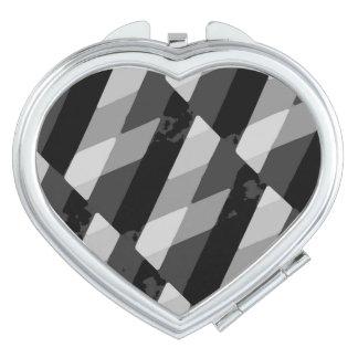 Black and White Grunge Striped Pattern Travel Mirrors