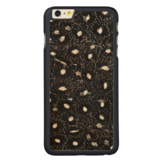 black and white guinea fowl feather carved® maple iPhone 6 plus case