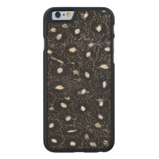 black and white guinea fowl feather carved® maple iPhone 6 slim case