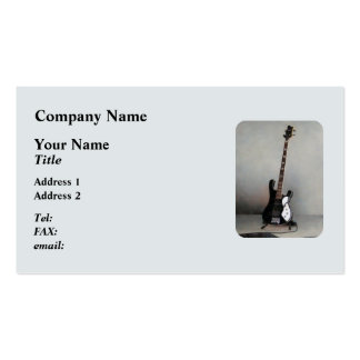 Black and White Guitar Business Card Templates
