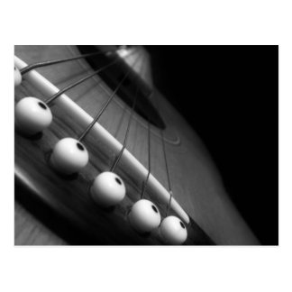Black and white guitar perspective postcard
