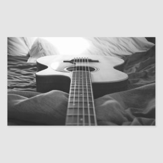 Black and White Guitar Sticker