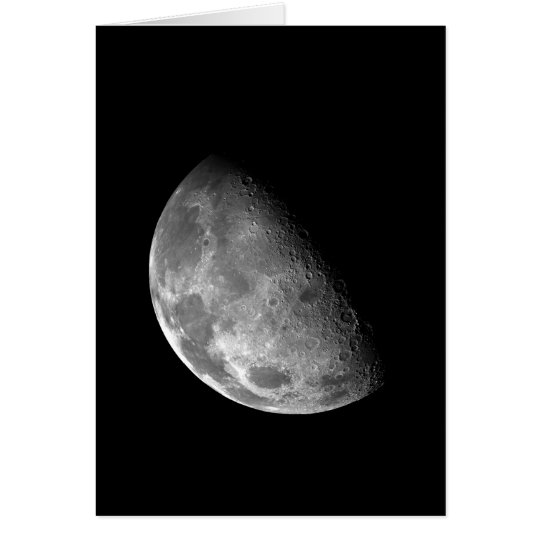 Black and White Half Moon Image Card