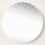 Black and White Halftone Dots Textured Coasters