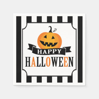 Black and White Halloween Cocktail Napkin Disposable Serviette