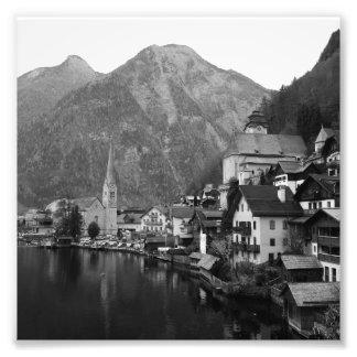 Black and White Hallstatt Photo Print