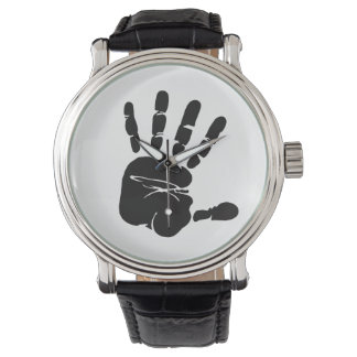 Black and White Hand Print Watch