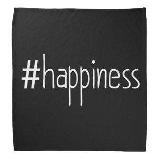 Black And White #happiness Bandana