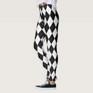 Black and White Harlequin Leggings