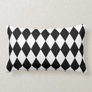 Black and White Harlequin Pattern Lumbar Pillow