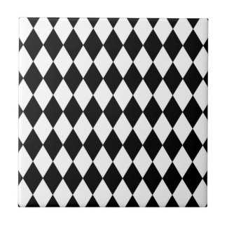 Black and White Harlequin Pattern Tile