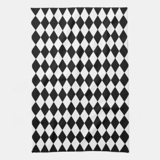 Black and White Harlequin Tea Towel