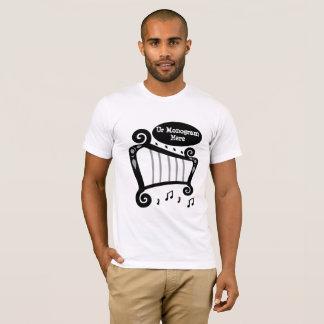 Black and White Harp Monogram T-Shirt