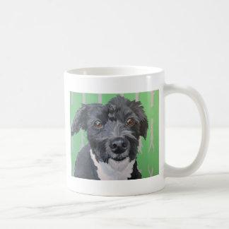 Black and white Havanese dog art mug. Coffee Mug
