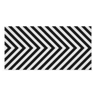 Black and White Hazard Stripes Textured Personalised Photo Card
