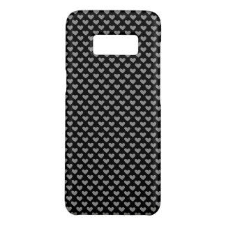 Black and White Heart Patten Case