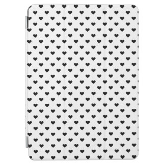 Black and White Heart Pattern iPad Air Cover