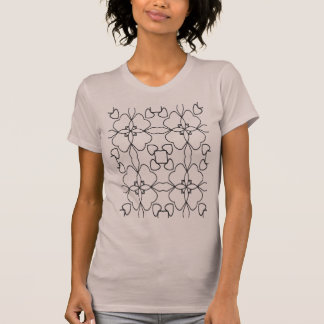 black and white heart pattern T-Shirt