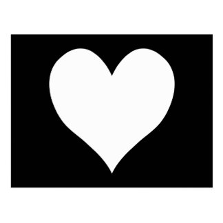 Black and White Heart Postcard