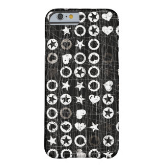 Black and white Hearts and stars Barely There iPhone 6 Case