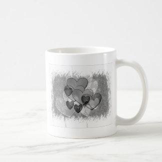 Black and White Hearts Mug