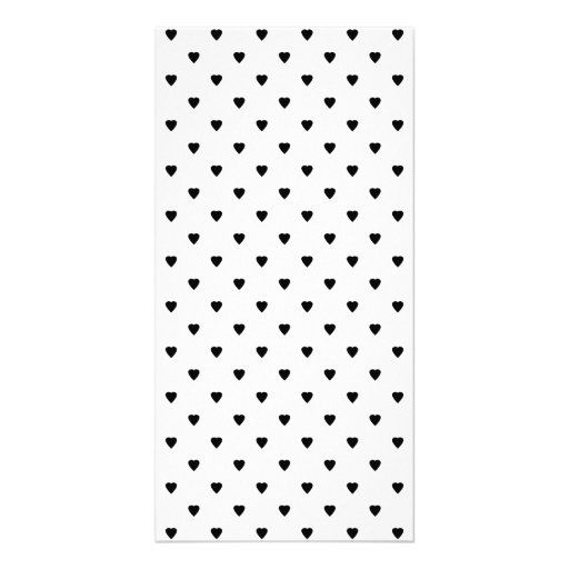 Black and White Hearts Pattern. Picture Card