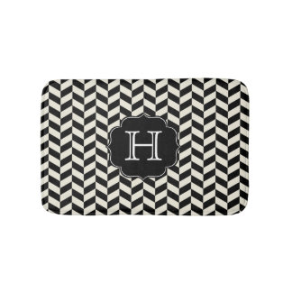 Black And White Bath Mats