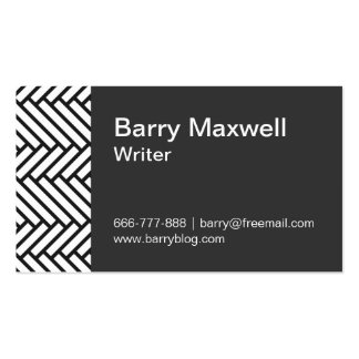 black and white herringbone pattern Double-Sided standard business cards (Pack of 100)