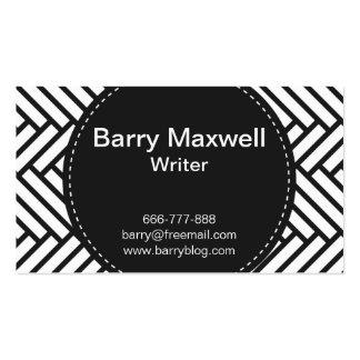 black and white herringbone pattern business card templates