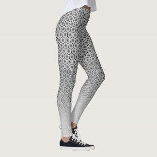 Black and White Hexagon Leggings
