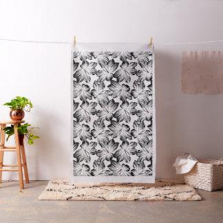 Black and white hibiscus fabric