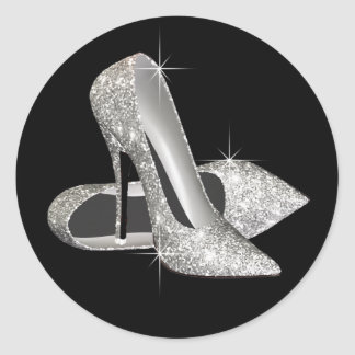 Black and White High Heel Shoe Stickers