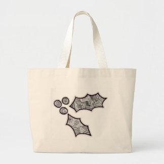 Black and White Holly Jumbo Tote Bag