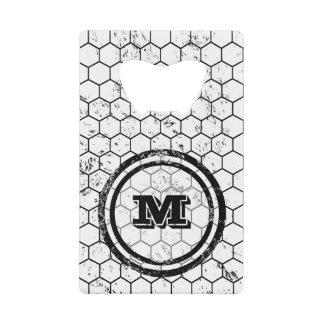 Black and white Honeycomb Monogram Pattern